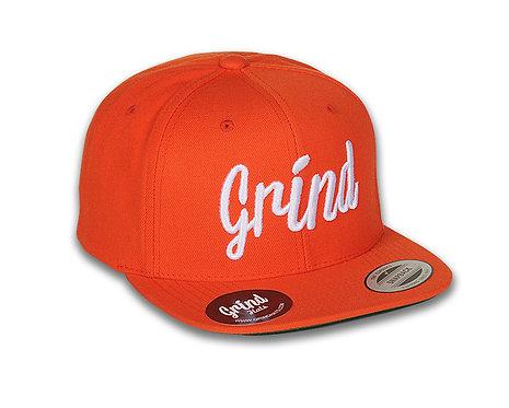 Orange Hat w/ White Grind Embroidered Logo