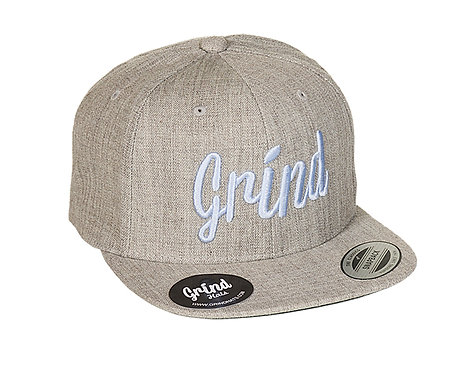 Heather Gray w/Sky Blue Grind Embroidered Logo