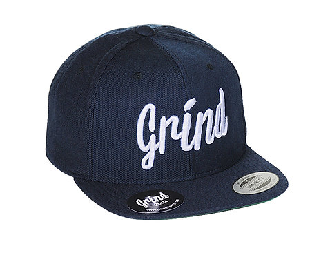 Navy Hat w/ White Grind Embroidered Logo