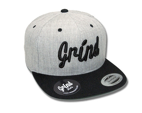 Heather Gray 2-Tone w/Black Grind Embroidered Logo