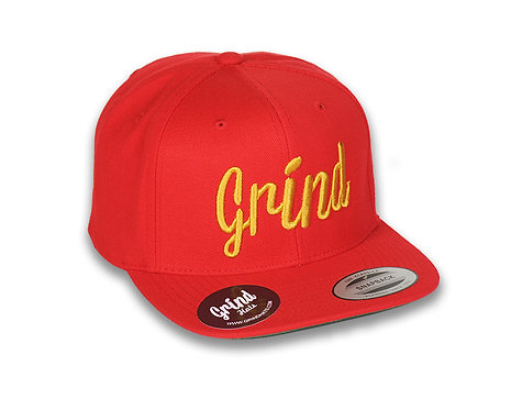 Red Hat w/ Gold Grind Embroidered Logo