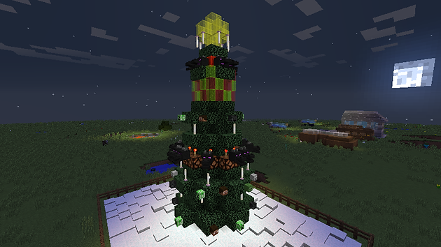 Minecraft Christmas Tree.How To Build A Christmas Tree In Minecraft