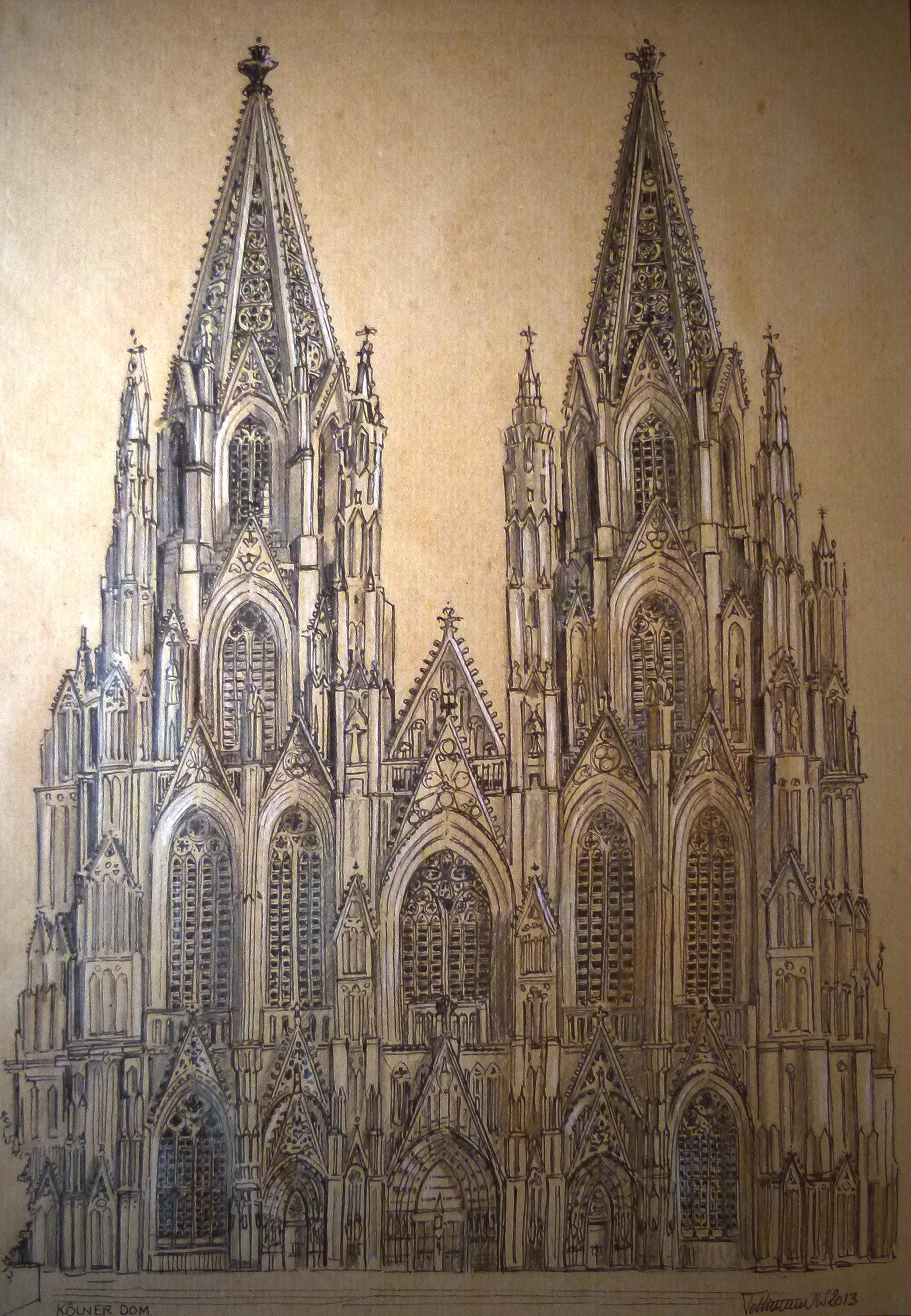 Kölner Dom | Zeichnung