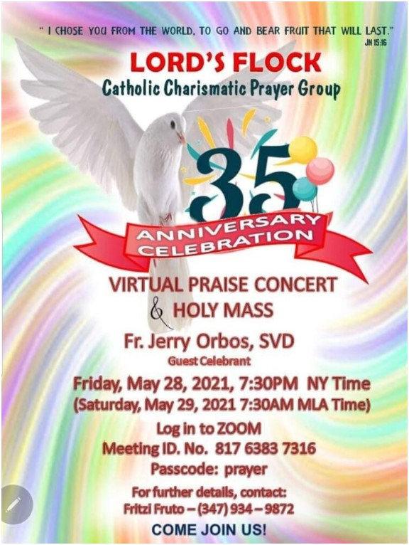 Lord's Flock Prayer Group Anniversary.jp