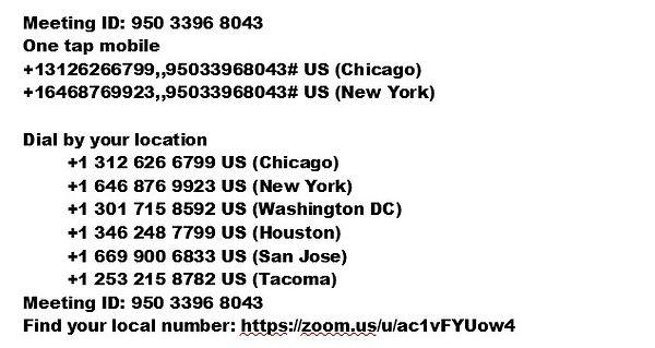 Zoom Prayer Meeting Phone Number Link