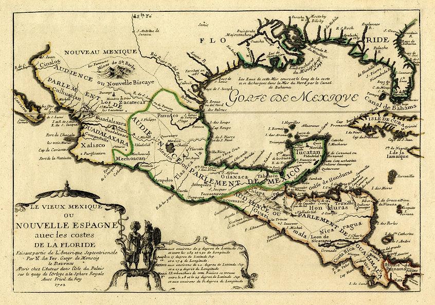 1702 map of La Florida