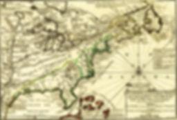 1702 map of New France, La Florida