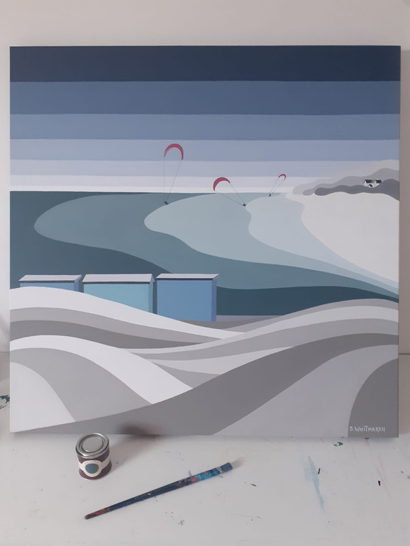 Kitesurfers at Silver Sands