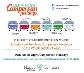 Isle of Wight CAmpervan Holidays Gift Voucher