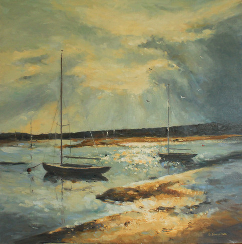evening light bembridge harbour