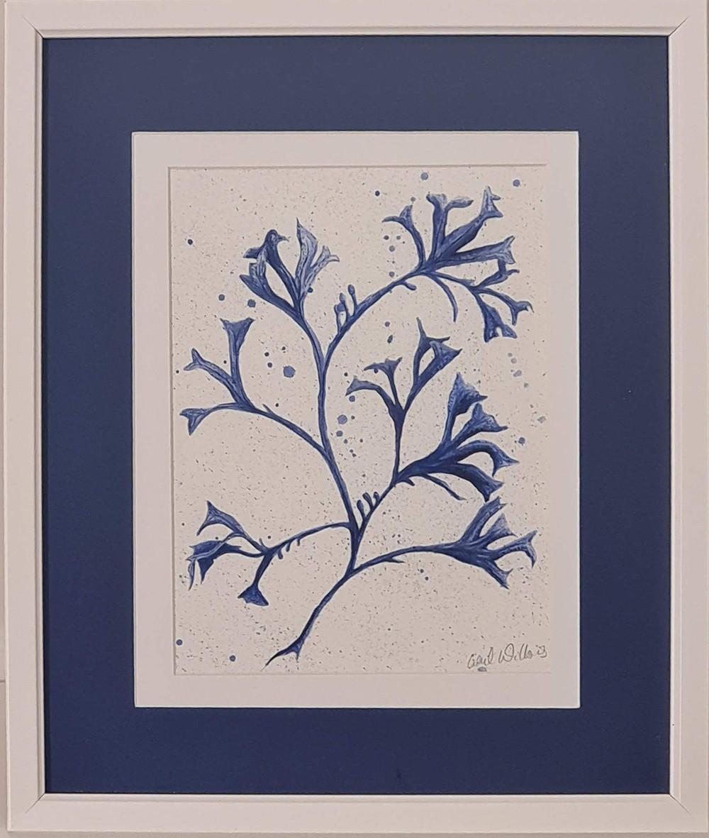 seaweed in blue