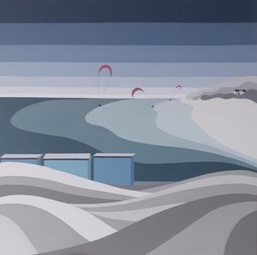 Kitesurfers at Silversands