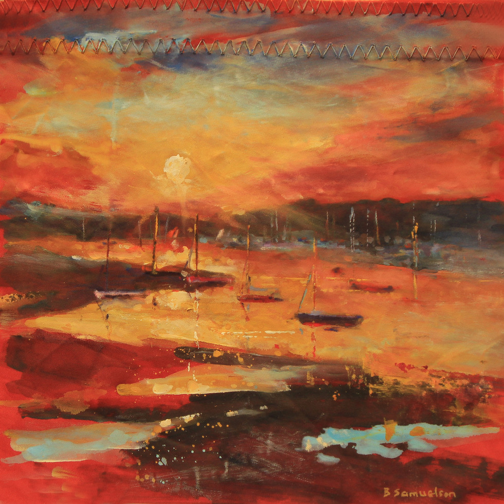 Sunset at Bembridge Harbour