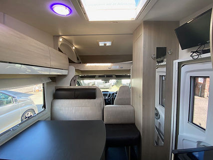 Inside a Chausson Motorhome