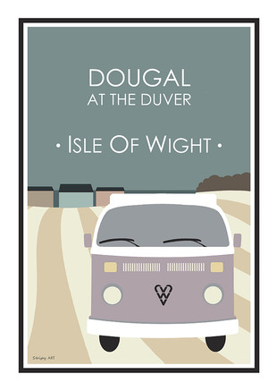Dougal on the Duver