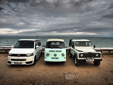 Land Rover, VW Campers for hire