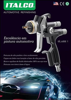 GLOSS 1 HVLP PISTOLA PINTURA ITALCO1,4MM, 600ML