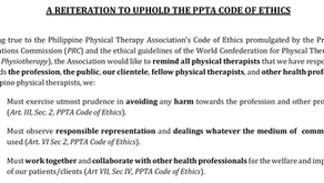 PPTA reiterates Code of Ethics for physical therapists