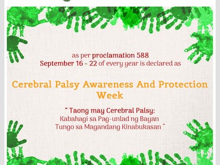 Cerebral Palsy Awareness and Protection Week 2019