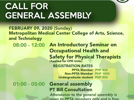 An Introductory Seminar on Occupational Health and Safety for Physical Therapists