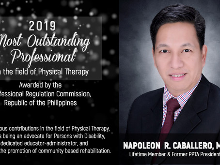 Nap Caballero is PRC's Outstanding Professional in Physical Therapy