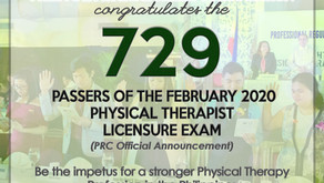 729 Pass the February Physical Therapist Licensure Exam