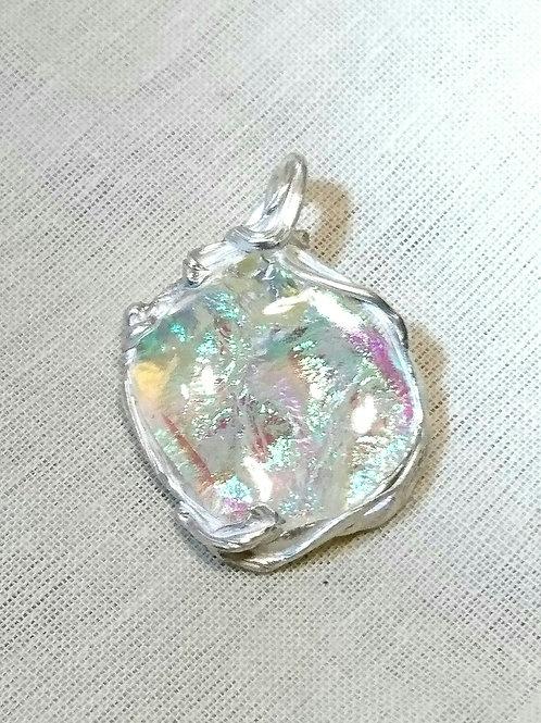 Ppure silver×titanium glass pendant top