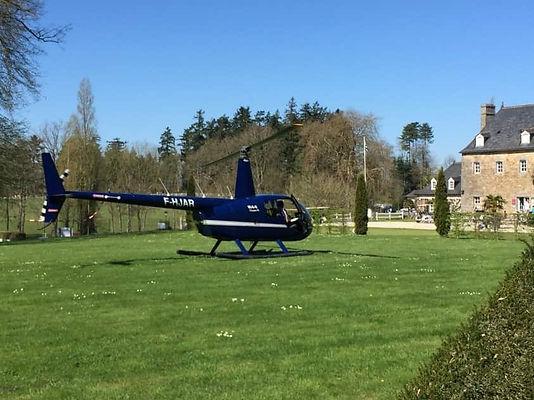 Hélicoptère bleu
