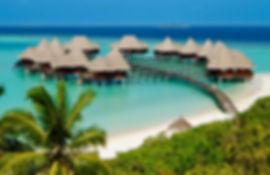 Maldives hotel pilotis