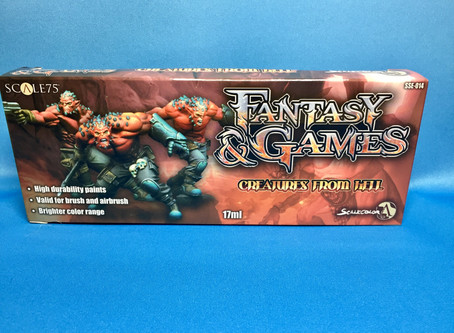 """Unboxing: Scale 75, Scalecolor Fantasy and Games """"Creatures From Hell"""" Paint Set!"""