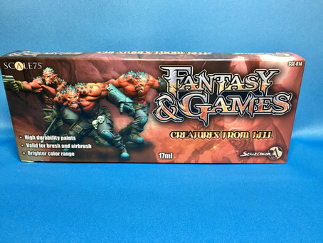 "Unboxing: Scale 75, Scalecolor Fantasy and Games ""Creatures From Hell"" Paint Set!"