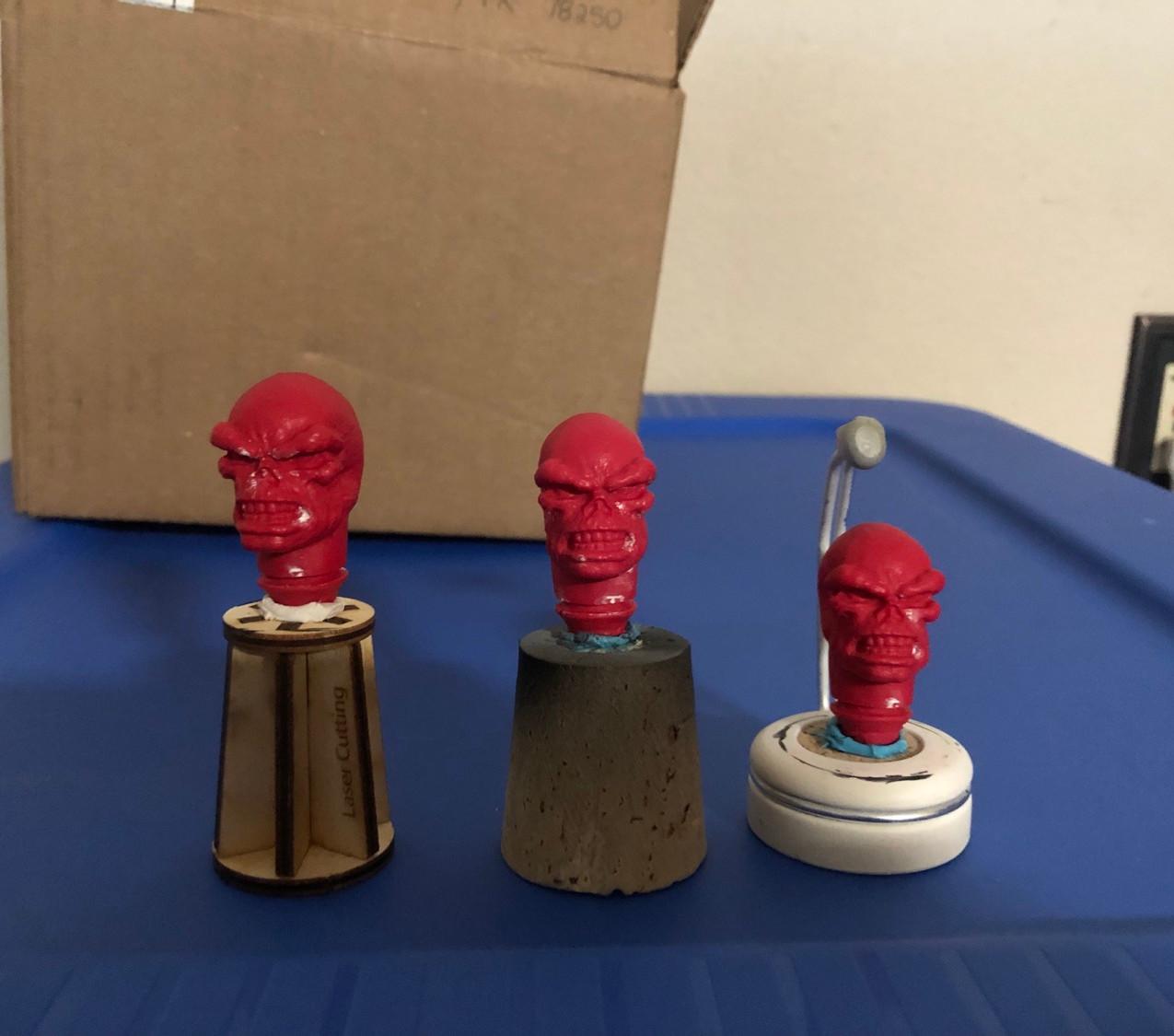 3 Mego heads cleaned