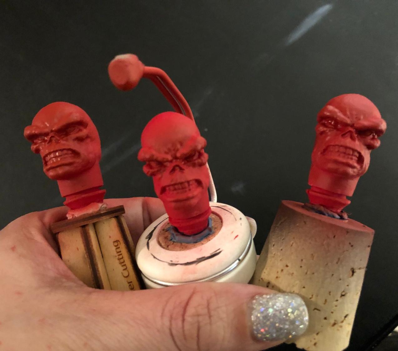 Base coated Mego heads