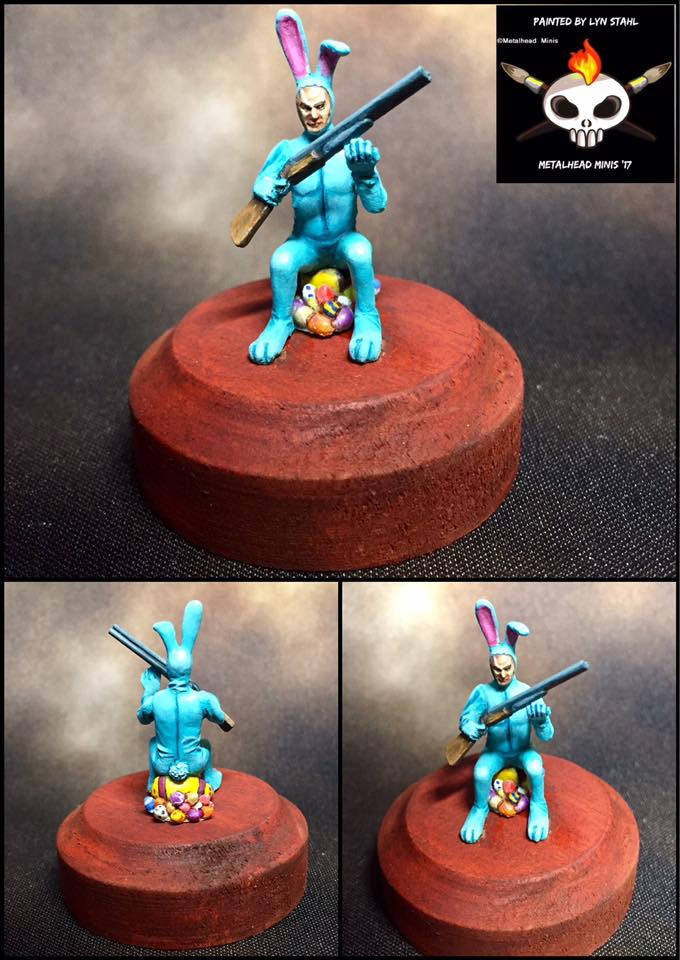 Thugz Bunny Painted by Lyn Stahl, Metalhead Minis
