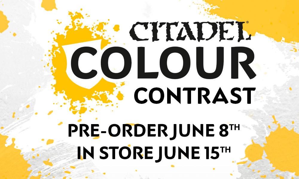 Citadel Colour Contrast Paints Release Date.