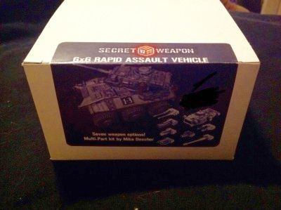 Review: Secret Weapon Miniatures 6X6 Rapid Assault Vehicle, Complete Kit