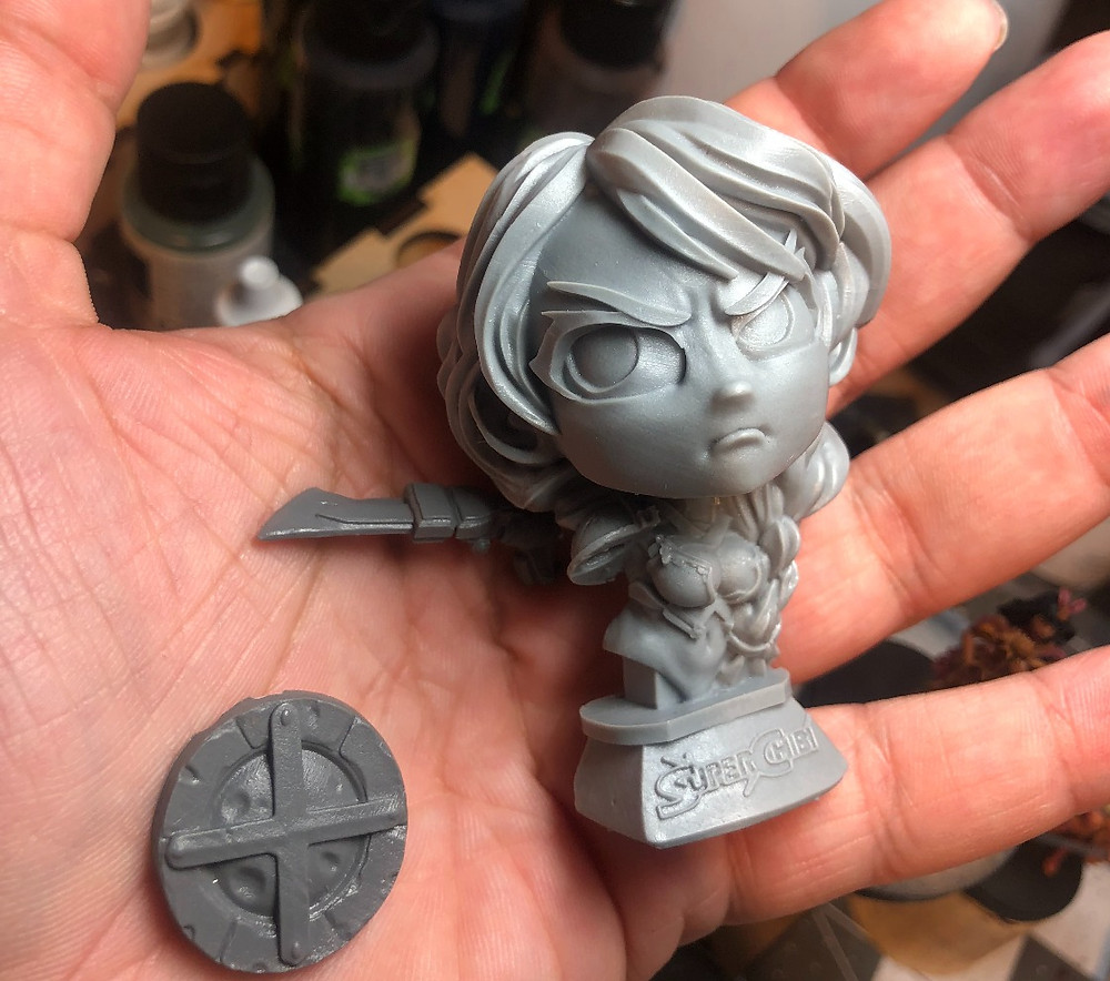 Midknight Heroes Midknight Suoer Chibi Bust.