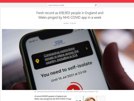 Pingdemic - The Art of War - Via SMS/ App