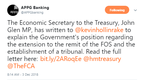 The Treasury Response to SMEA - APPG Banking..