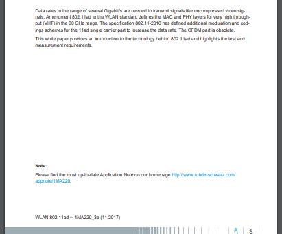Wi-GiG 802.11 ad - 60GHz