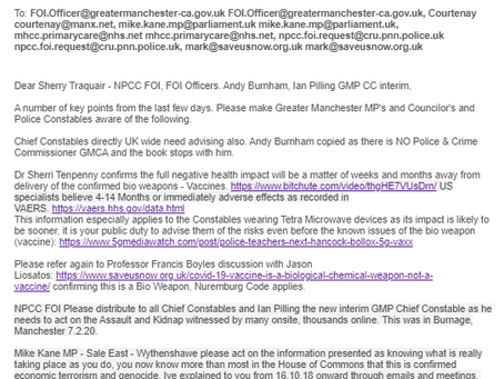 Lawful Solutions Revisited - UK Police Actions.