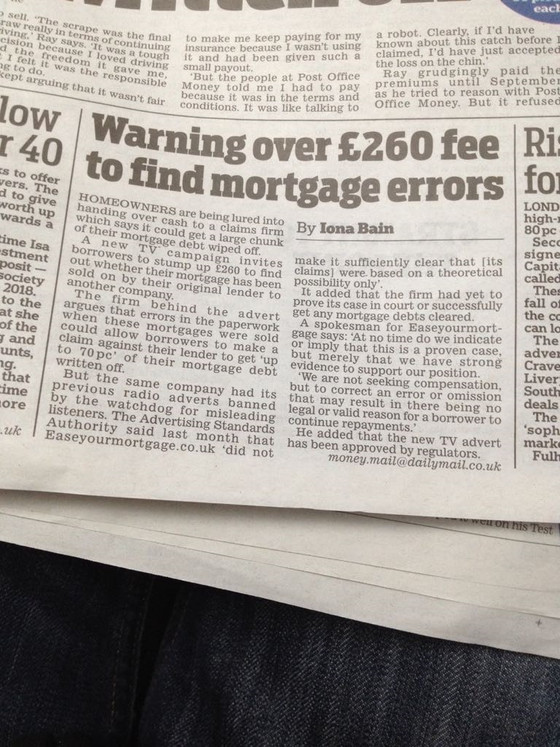 Daily Mail Article - Key Issue Lost