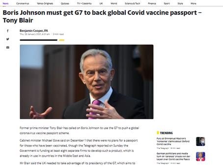 Global Vaccine Passport - Blair - Health Passports - Your Risks