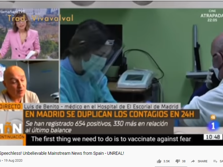 Mainstream Media Covid 19/ Corona Lie Exposed - Madrid Style. Go Doc.. Go Go Go!!