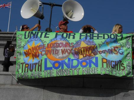 Trafalgar-19.9.20 - WDA - Educational Rally - Attacked By Boris & His Nazi - Stazi - Stormtroopers