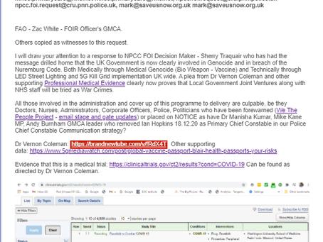 NPCC - FOIRs - GMCA - Metals - Vaccines - 5G - CV19-Bill-2021 - Elders of Zion.