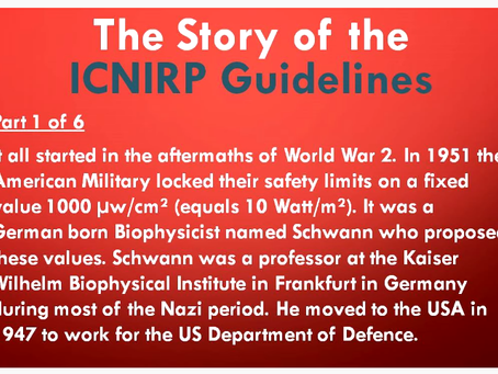History of ICNIRP Guidelines - Flemming Blichen: Parts 1 to 5