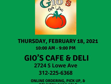 Gio's Restaurant Night!