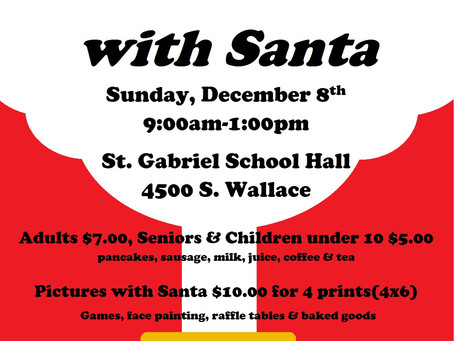 Santa Claus is coming to St. Gabes!!!