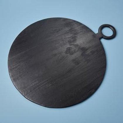 Black Mango Wood Extra Large Round